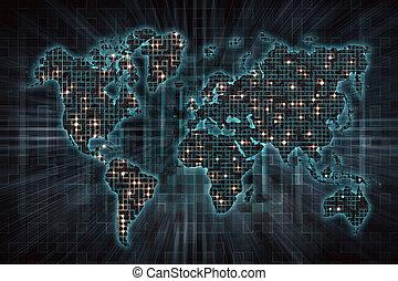 wereld, beeld, financieel, zakelijk