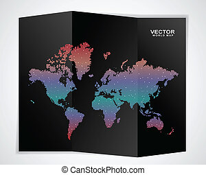 wereld, black , kaart