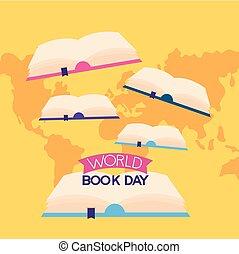 wereld, boek, dag