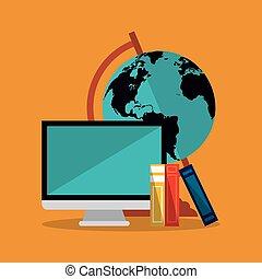 wereld, computer ikoon