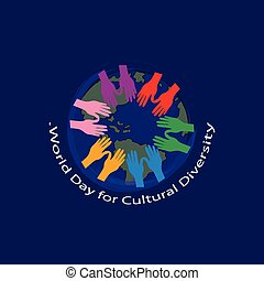 wereld, cultureel, verscheidenheid, dag