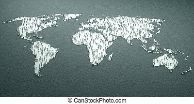 wereld, document mensen, statistiek
