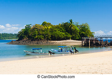 wereld, erfenis, bouwterrein, op, isla, coiba, panama