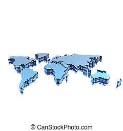 wereld, geografische kaart, silhouette