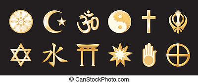 wereld godsdiensten, black , backgound
