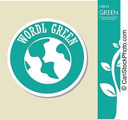 wereld, groene