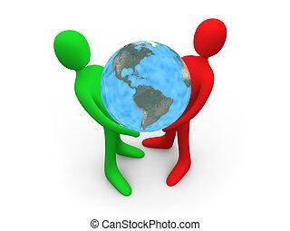 wereld, houden, #2