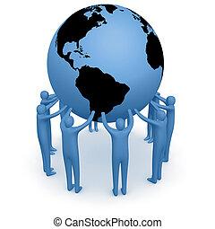 wereld, houden, #4