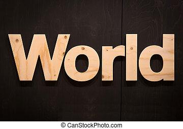 wereld, hout, type
