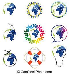 wereld, iconen