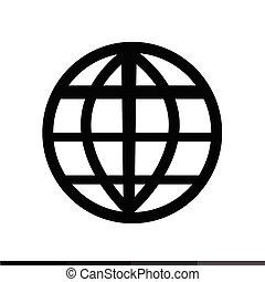 wereld, internet, ontwerp, illustratie, pictogram