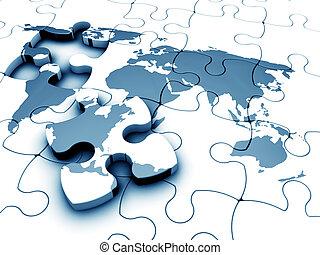 wereld, jigsaw