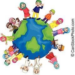wereld, moslim