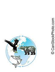 wereld, natuurlijke , dier, erfenis