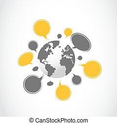 wereld, netwerk, sociaal