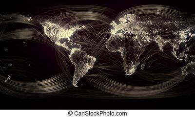 wereld, networked, seamless, goud, lus