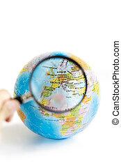 wereld, raadsel, (europe), 3d