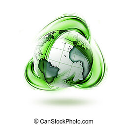 wereld, recycling