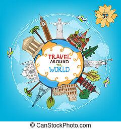 wereld reis, monumenten, bekende & bijzondere plaatsen, ...