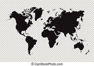 wereld, rooster achtergrond, kaart