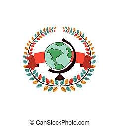 wereld, school, globe