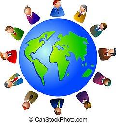 wereld, stafmedewerkers