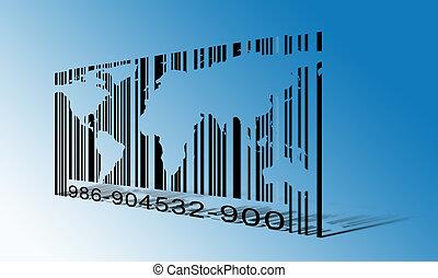 wereld, streepjescode