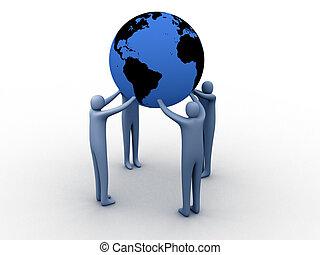 wereld, unie