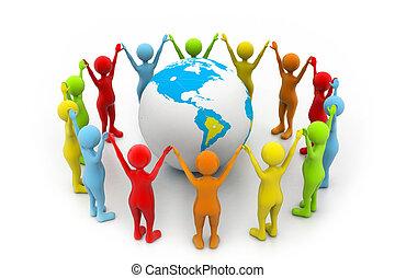wereld, vennootschap
