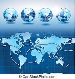 wereld, vervoer, en, logistiek