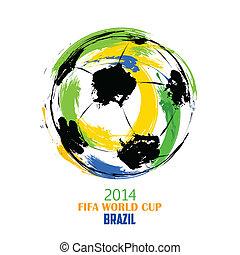 wereld, voetbal, achtergrond, kop