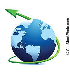 wereldbol, digitale