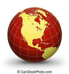 wereldbol, geografisch, 2