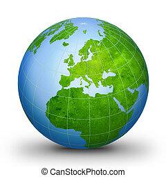 wereldbol, geografisch