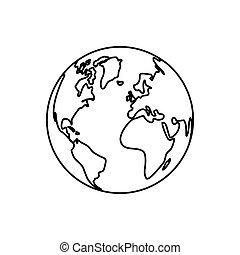 wereldbol, isoleren