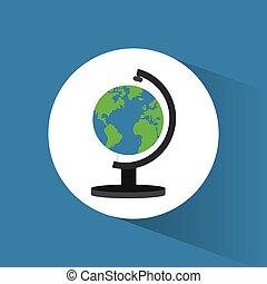 wereldbol, reizen, pictogram