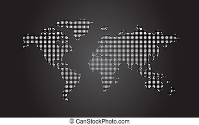 wereldkaart, dotted