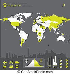 wereldkaart, landen
