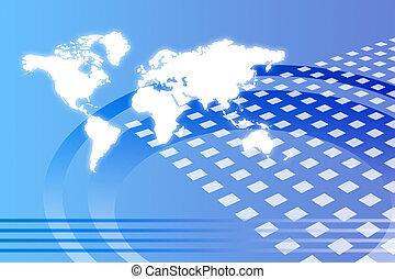 wereldwijd, abstract, groei, collectief
