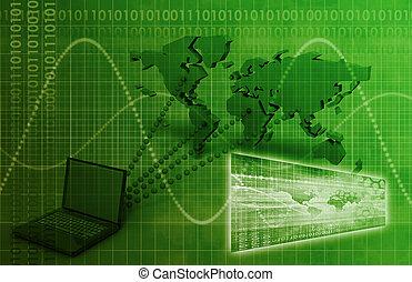 wereldwijd, connectivity, computer