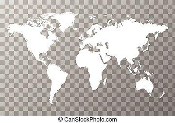 wereldwijd, kaart, transparant, achtergrond