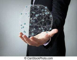 wereldwijd, netwerk, concept