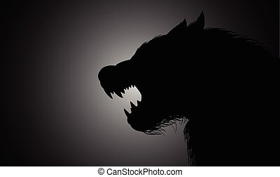 Werewolf - A werewolf lurking in the dark