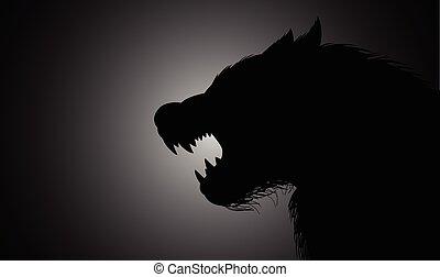 Werewolf - A werewolf lurking in the dark
