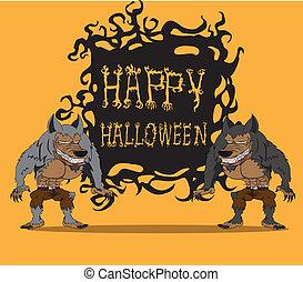 Werewolf. Halloween monster
