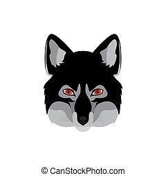 Werewolf head emblem.