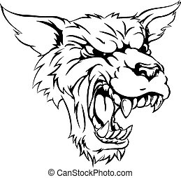 Werewolf or wolf character