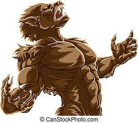 Werewolf Wolf Man Scary Horror Monster