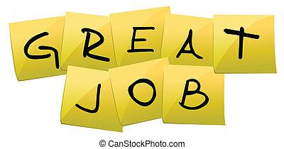 werk, post, groot, illustratie, informatietechnologie