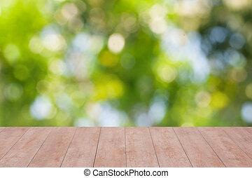(werk)blad, hout, groene, bokeh